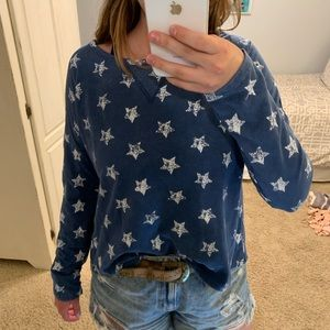 Tops - Blue and white star long sleeve